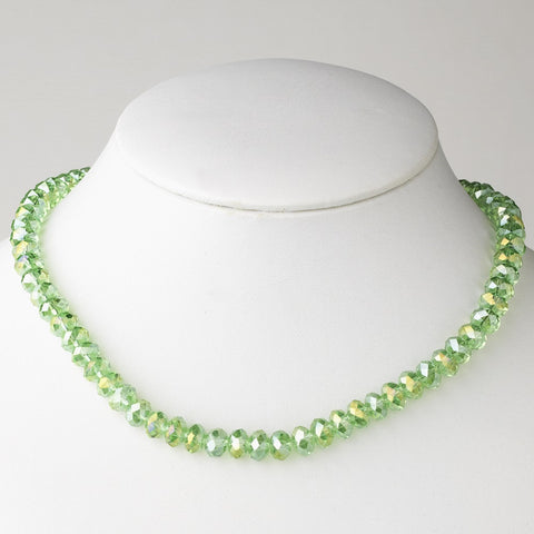 Peridot Bridal Wedding Necklace 7615