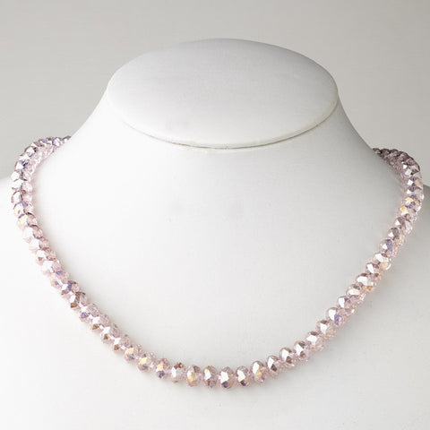 Pink Bridal Wedding Necklace 7615