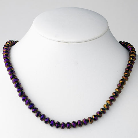 Plum Bridal Wedding Necklace 7615