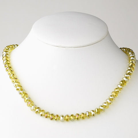 Yellow Bridal Wedding Necklace 7615