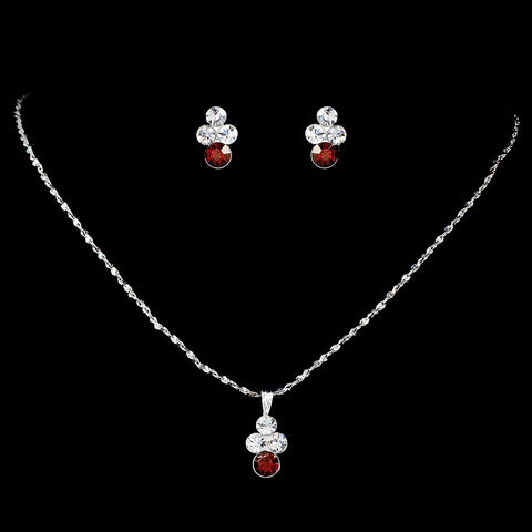 * Rhinestone Bridal Wedding Necklace Earring Set NE 110
