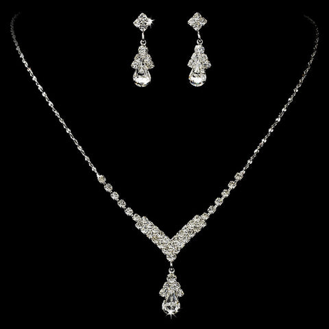 Crystal Rhinestone Drop Bridal Wedding Jewelry Set 344