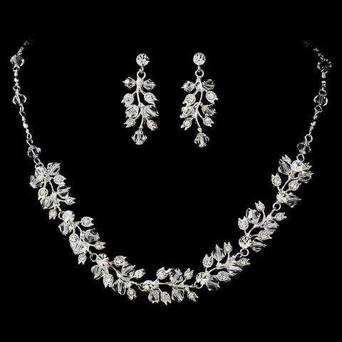 Couture Bridal Wedding Jewelry 663 & Bridal Wedding Headband 7012 Set