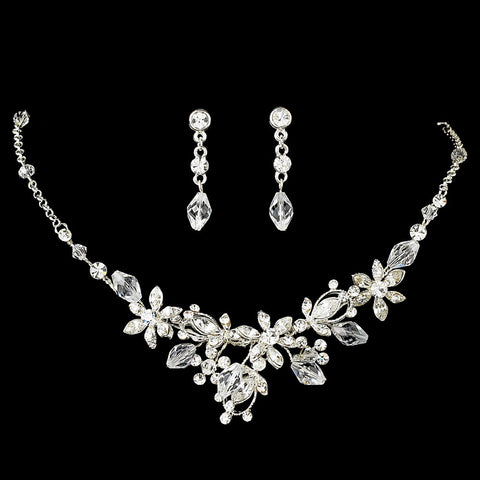 Crystal Couture Jewelry 6855 & Bridal Wedding Headband 8123 Set