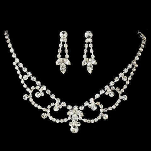 Swarovski Crystal Jewelry 7200 & Bridal Wedding Tiara Set 7098