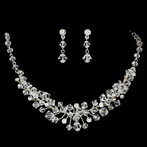 Swarovski Crystal Bridal Wedding Jewelry 7602 & Bridal Wedding Tiara 8125 Set