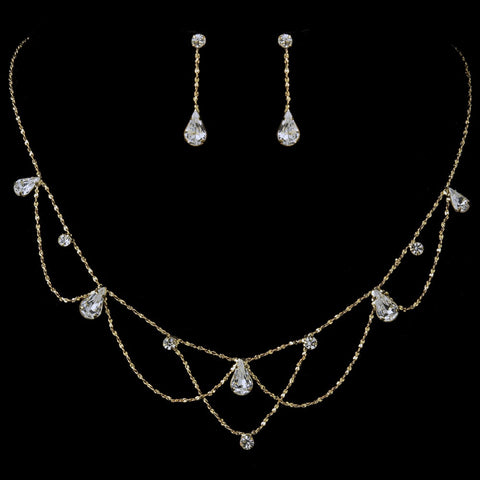 Rhinestone Bridal Wedding Jewelry Set 8000