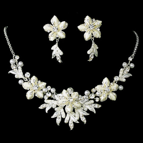 Winter Snowflake Bridal Wedding Jewelry Set & Tiara Set 8100