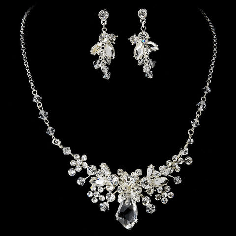 Swarovski Crystal Bridal Wedding Jewelry Set & Tiara Set 8237