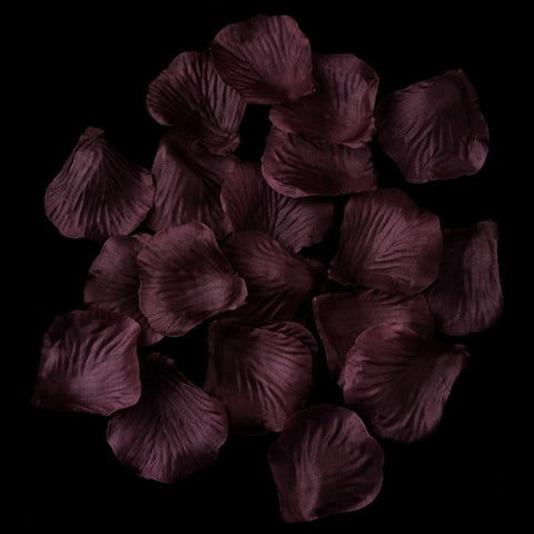 100/500 Plum Artificial Bridal Wedding & Formal Silk Rose Petals
