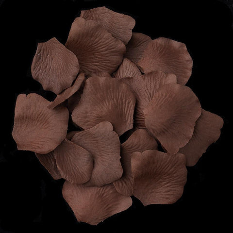 100 Brown Bridal Wedding & Formal Silk Rose Petals