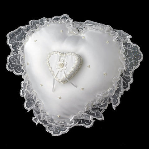 Heart Bridal Wedding Ring Bearer Pillow with Bridal Wedding Ring Box RP 422