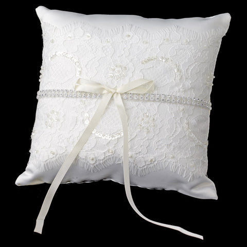 Lace Bridal Wedding Ring Pillow 800