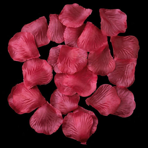 100 Fuchsia Artificial Bridal Wedding & Formal Silk Rose Petals