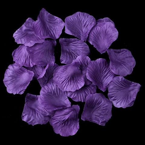 100 Amethyst Artificial Bridal Wedding & Formal Silk Rose Petals