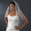 Bridal Wedding Double Layer Fingertip Length Bridal Wedding Veil 1436 F