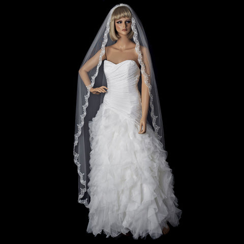 Bridal Wedding Single Layer Cathedral Length Bridal Wedding Veil 1610