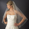 Bridal Wedding Double Layer Fingertip Length, Crystal Accents Bridal Wedding Veil 2103