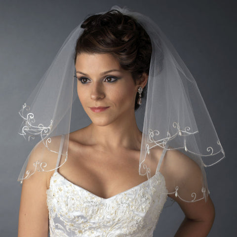 Bridal Wedding Single Layer Child's Communion Shoulder Length Bridal Wedding Veil 227