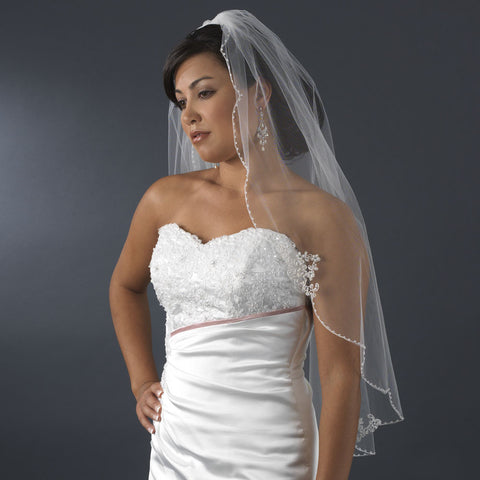 "Bridal Wedding Veil Single Layer Fingertip (36"" l x 72"" w) Bridal Wedding Veil 3336"