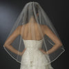 Bridal Wedding Single Layer Fingertip Length Bridal Wedding Veil 4742 1F