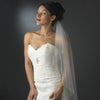 Bridal Wedding Single Layer Elbow Length Bridal Wedding Veil 520 w/ Scattered Crystals & Pearls