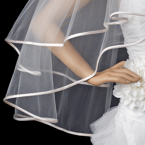 Bridal Wedding Veil 948 Ivory - Fingertip (30