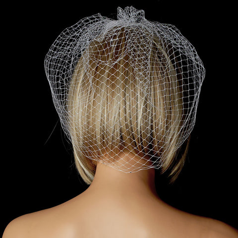 Sparkling Single Layer Russian Birdcage Face Bridal Wedding Veil with Attached Rhinestone Bridal Wedding Hair Comb 707
