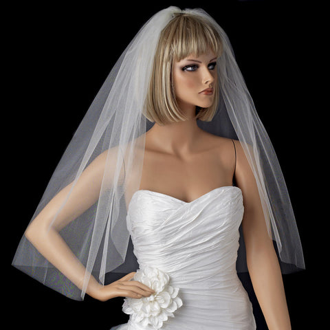*Bridal Wedding Shimmer Cut Edge Bridal Wedding Veil VSH C