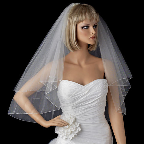 *Bridal Wedding Shimmer Pencil Edge Bridal Wedding Veil VSH P