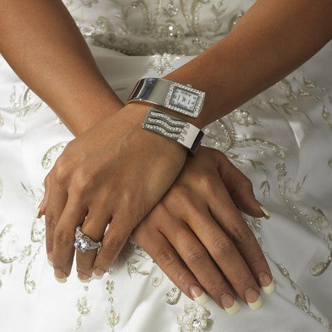 Rhinestone Crystal Bridal Wedding Watch 11