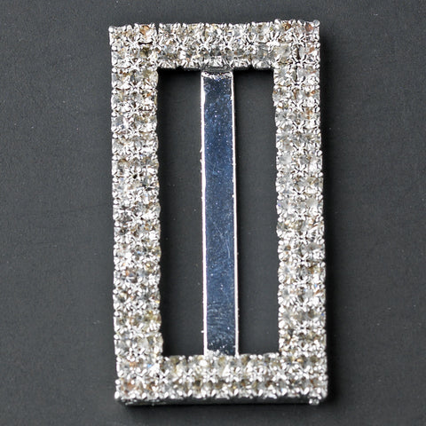 Crystal Rectangle Buckle Bridal Wedding Bouquet Jewelry 2195