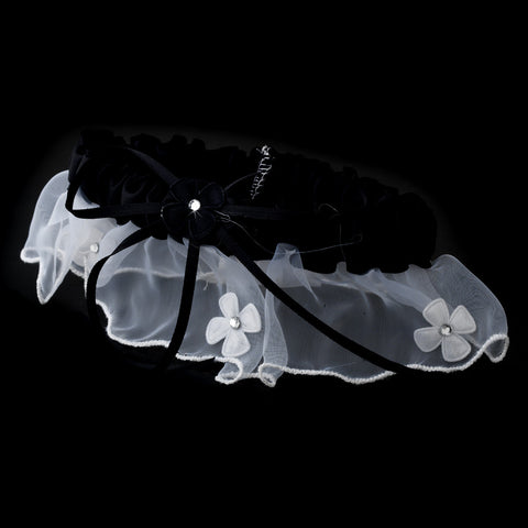 Dainty Black Trimmed Bridal Wedding Garter 305