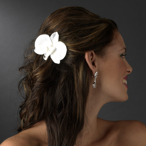 Ivory Pearls and Soft Petals Bridal Wedding Hair Clip 437 or Bridal Wedding Hair Clip Bridal Wedding Brooch