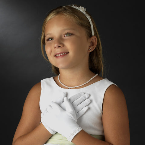 Children's Glove with Sequins & Pearls GL Child 200