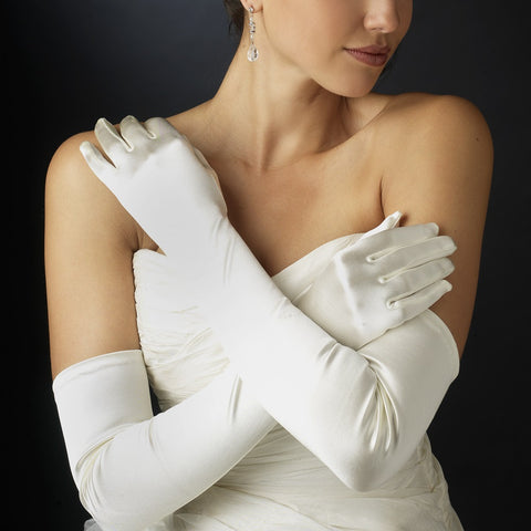 Opera Formal Bridal Wedding Matte Satin/Satin Gloves