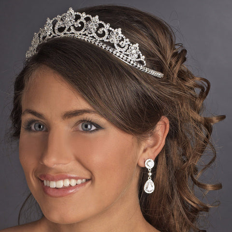 Gold Crystal & Rhinestone Bridal Wedding Tiara HP 434