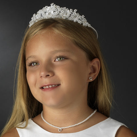 White Children's Headpiece 4720