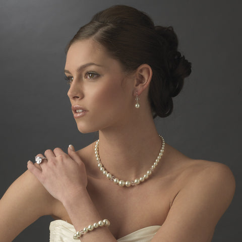 Bridal Wedding Necklace 8361 Taupe