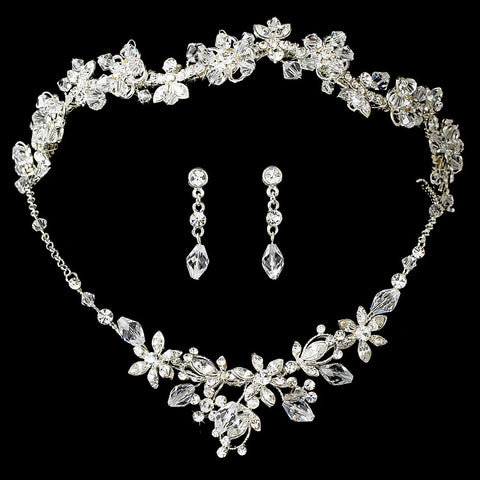Crystal Couture Jewelry 6855 & Bridal Wedding Headband 7817 Set