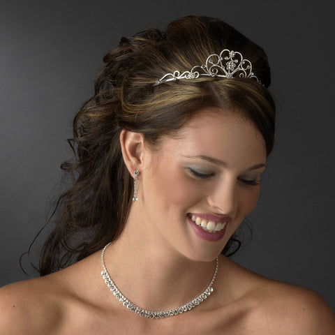 Silver Clear Children's Bridal Wedding Tiara HP C 600