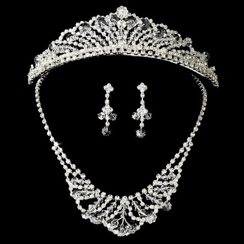 Swarovski Crystal Jewelry 7209 & Bridal Wedding Tiara 7093
