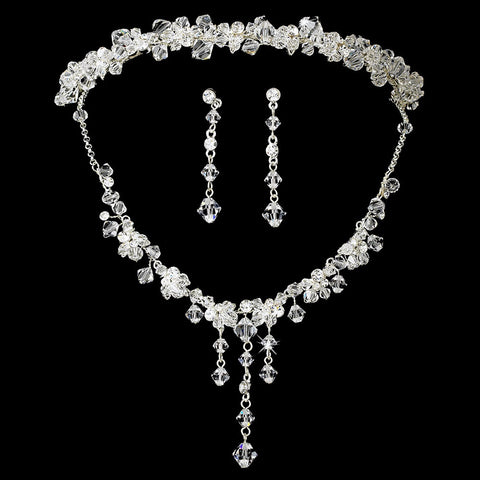 Swarovski Crystal Bridal Wedding Jewelry Set & Headband Set 7807