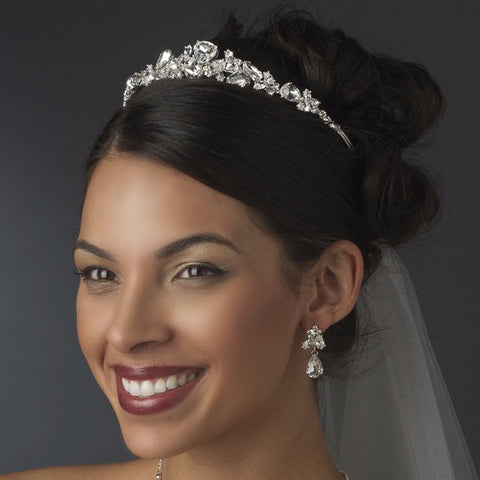 Swarovski Bridal Wedding Jewelry Set & Tiara Set NE 8314 & HP 8314