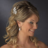 * Beautiful Crystal Covered Couture Bridal Wedding Hair Pin 122