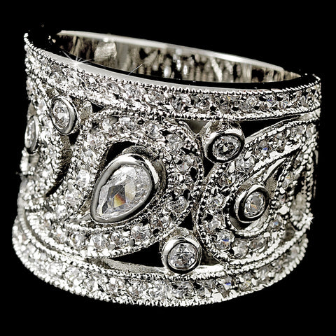 CZ Crystal Bridal Wedding Ring 8429
