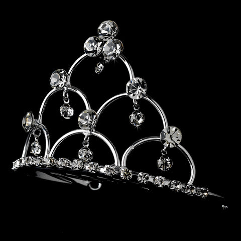 * Silver Plated Child's Bridal Wedding Tiara Bridal Wedding Hair Comb HPC 500