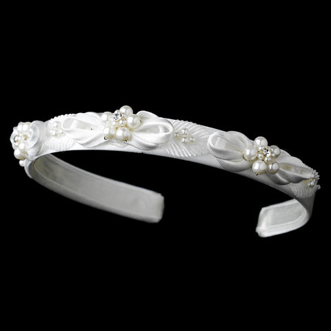 White Pearl Child's Bridal Wedding Headband HPC 165