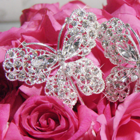 Crystal Butterfly Bridal Wedding Bouquet Jewelry BQ-Butterfly-Large