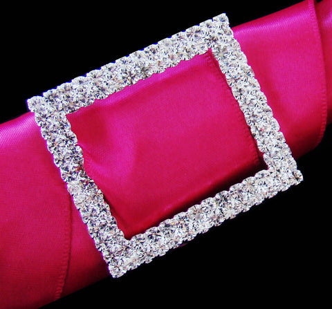 Crystal Rectangular Buckle Bridal Wedding Bouquet Accent 2160